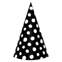 Black Polka Large DIY Party Hats