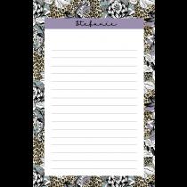 Leopard Flower Purple Personalized Notepad
