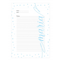 Light Blue Dalmatian Personalized Planner