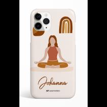Lotus Pose Personalized Phone Case