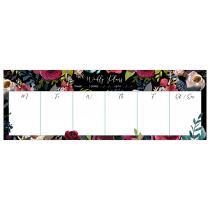 Merlot - Black | Desk Weekly Planner