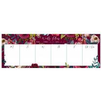 Merlot - Burgundy | Desk Weekly Planner