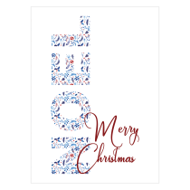 NOEL Folded Greeting Card