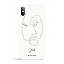 One Face Natural Line Art Phone Case