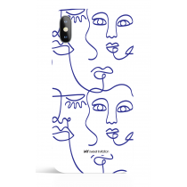 One Line Blue 13 Art Phone Case