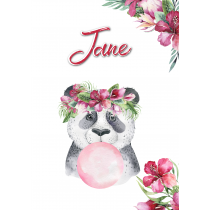 Cute Friends Panda Bubble Red Flower