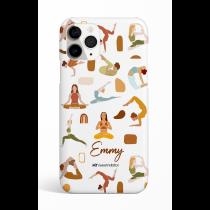 Yoga Poses Personalized Phone Case