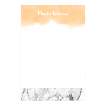 Peachy Marble Personalized Notepad