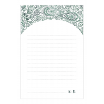 Persian Paisley Personalized Notepad