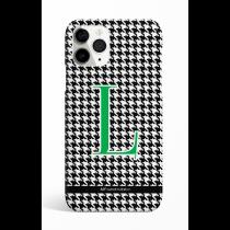 Pie de Pule Monogram Green Letter Phone Case