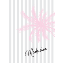 Pink Palm Stripes Notebook/Agenda