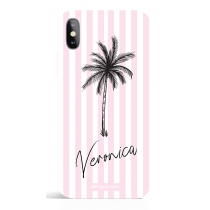 Paradise Pink Stripes Pesonalized Phone Case