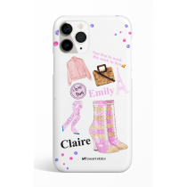Pink Sock Boots I Love Paris Phone Case