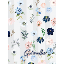 Rain of Flower Gray Evening Garden Notebook/Agenta