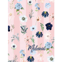 Rain of Flower Dusty Pink Evening Garden Notebook/Agenta