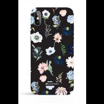 Rain of Flower Black Evening Garden PHONE CASE