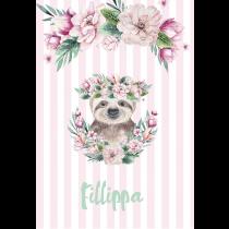 Cute Friends Sloth Pink Stripes