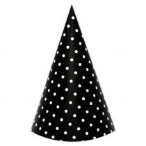 Black Polka Small DIY Party Hats