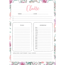 Paisley Personalized Weekly Planner