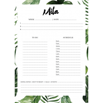 Urban Greenery Personalized Weekly Planner