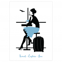 Travel & Live Folded Greeting Card | Virginia Romo