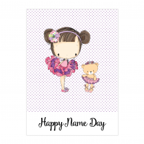 Lilly Name Day Folded Card