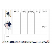 Evening Garden Monogram Weekly Planner Orizontial