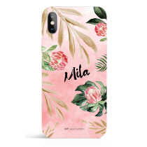 Urban Flower Garden Watercolor Personalized Phone Case