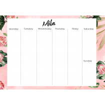 Urban Garden Personalized Weekly Planner Orizontial