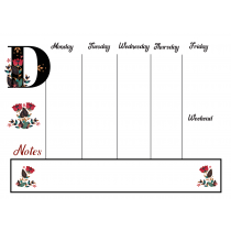 Folklore Chic Monogram Weekly Planner