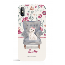 Westie_gril Chair Phone Case Dog Lover