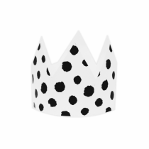 White Polka Large DIY Crowns