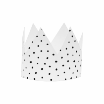 White Polka Small DIY Crowns