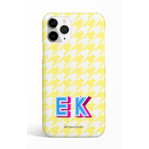 Spring Yellow  Pie de pule Monogram Phone Case