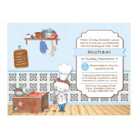 Little Boy Chef Invitation