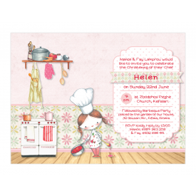 Little Girl Chef Invitation