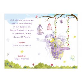Purple Fairy Invitation