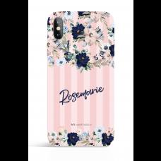 Bouquets Dusty Pink Stripes Evening Garden PHONE CASE