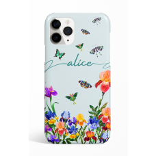 Eden Sky Blue Butterfly Personalized  Phone Case
