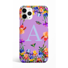 Eden Garden Purple Monogram Phone Case