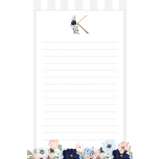 Evening Garden Monogram Notepad
