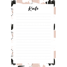 Free Art Kate Personalized Notepad