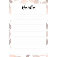 Free Art Nantia Personalized Notepad