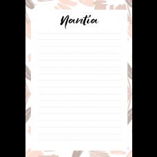 Free Art Nantia Personalized Notepad