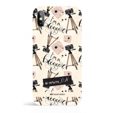 i am Blogger Pattern Social Media Phone Case