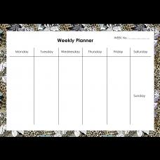 Leopard Flower Weekly Planner Horizontal