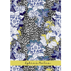 Leopard Floral Poison Personalized Notebook/Agenda