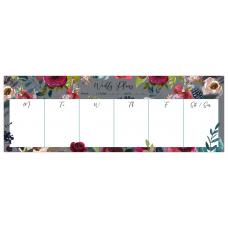 Merlot - Grey   Desk Weekly Planner