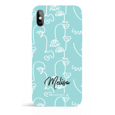 One Line White 15 Personalized Art Phone Case