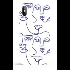 One Line Blue 13 Art Phone Case